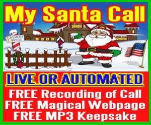 Live Santa Calls with Free Recording